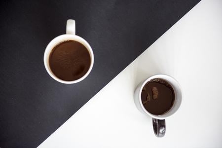 Kaffee Tee Getränk Schwarz Weiß