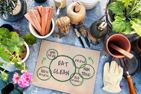 100% Natural Nutrion Healthy Eating Life Zdjęcie Seryjne