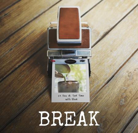 Break time coffee lover word