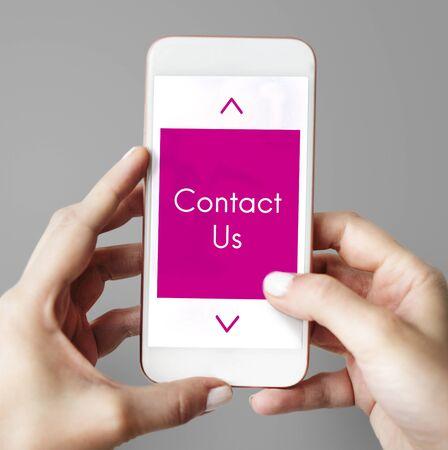 contact info: Logo Design Contact Us Word