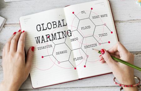 Changement climatique Écologie Environnement Réchauffement climatique Banque d'images