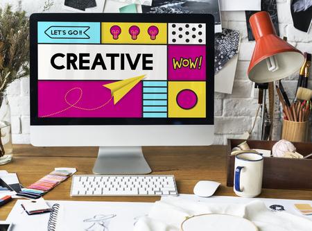 Creative Artistic Pop Art Graphic Stock Photo
