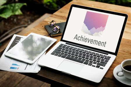 attainment: Achievement Word Peak Summit Graphic