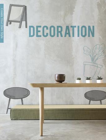 Apartment DIY Decoration Furnishing Interior Stock Photo