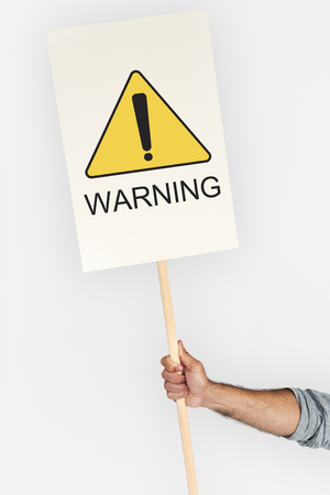 Warning Sign Caution Icon Word Stock Photo