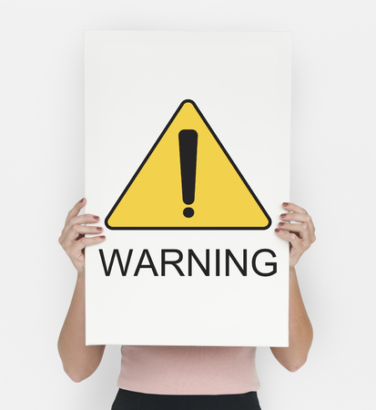 be alert: Warning Sign Caution Icon Word Stock Photo