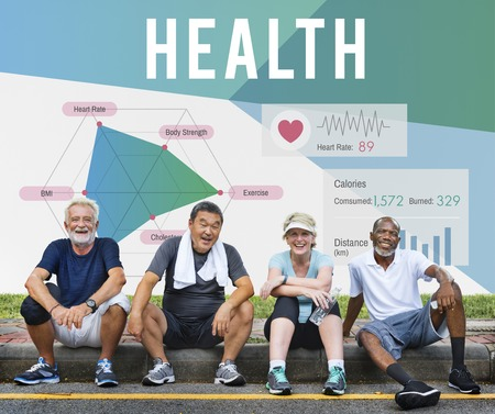 Senior people with health concept 스톡 콘텐츠