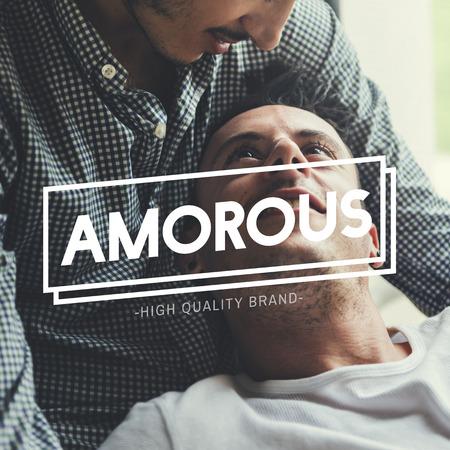 LGBT Enamored Amorous Love Intimate Stock Photo