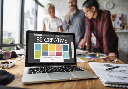 CMYK Inspiration Creative Colours Graphics Stock Photo
