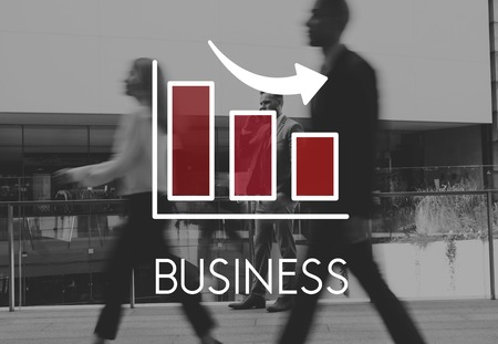 Graph with business concept 写真素材 - 113442694