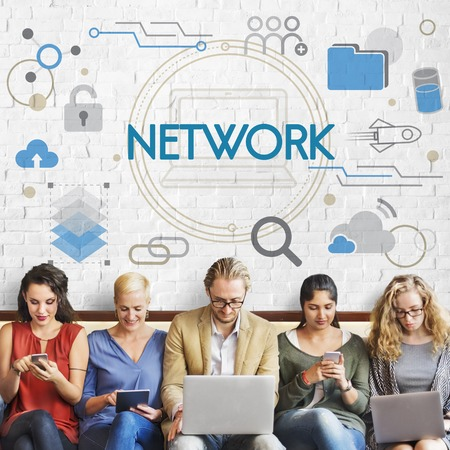 Database Network Settings System Stock Photo