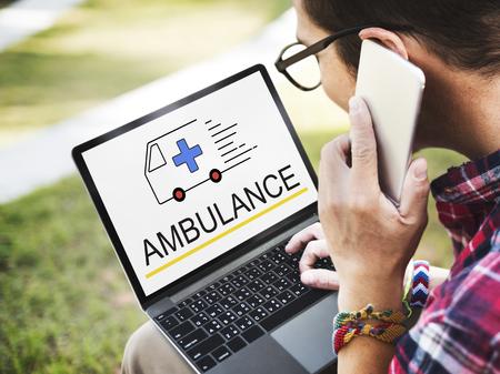 Ambulance situation urgente urgente urgente Banque d'images - 76468030