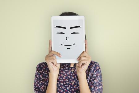 Face Expression Emotional People Concept Banco de Imagens - 76468095