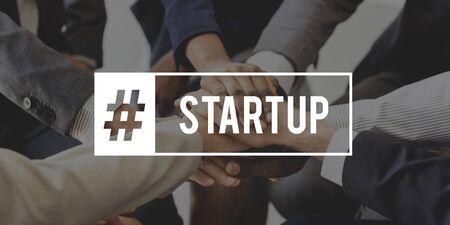 Start Up Business Venture Goals Hashtag Stock Photo - 76468173