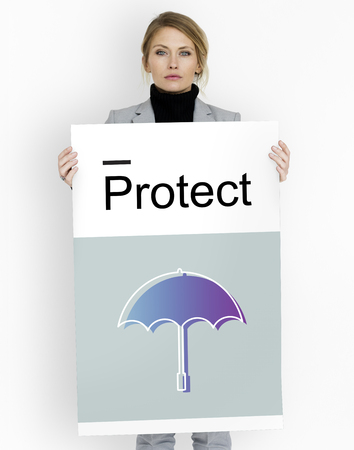 Protect Guard Security Umbrella Graphics Icons Symbols