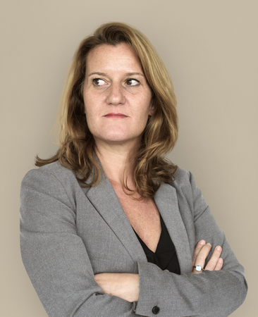 Adult woman corporate crossed arms portrait