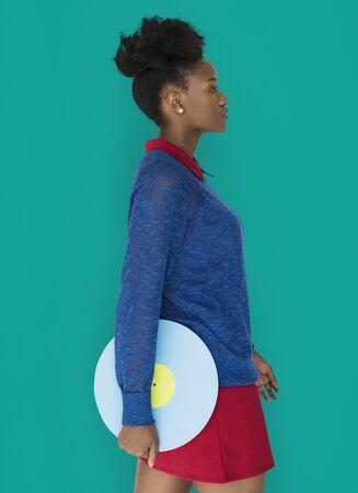 african descent: African Descent Female holding Illustration