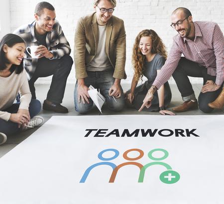 Teamwork Shared Goals Togetherness Collaboration Imagens - 76472112