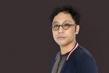 Asian Man Studio Shoot Lifestyle Isolated Stock Photo