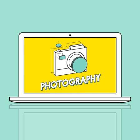 Digital camera illustration photography graphic Фото со стока