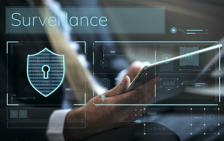 Datensicherheitssystem Schildschutzüberprüfung Standard-Bild - 76601149