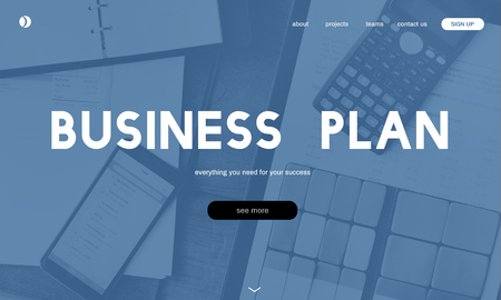 Website with business plan concept