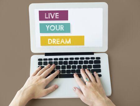 Live Your Dream Believe Inspiration Motivation Vision Stok Fotoğraf