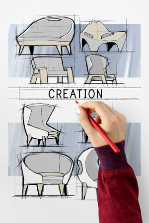 red couch: Ideas Creation Design Process Icon