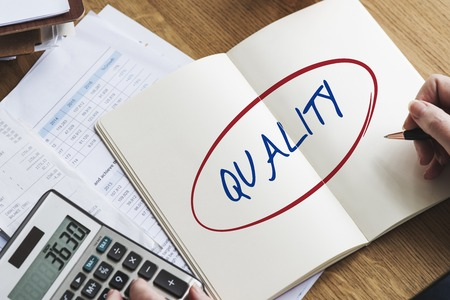 Quality Standard Rank Worth Guarantee Best Concept Фото со стока