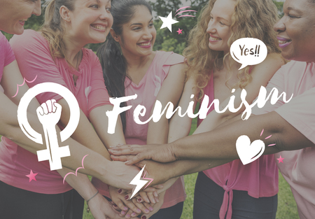 Feminism equality confidence women right Stock Photo - 76473032