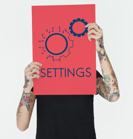 코그 구성 설정 아이콘 그래픽