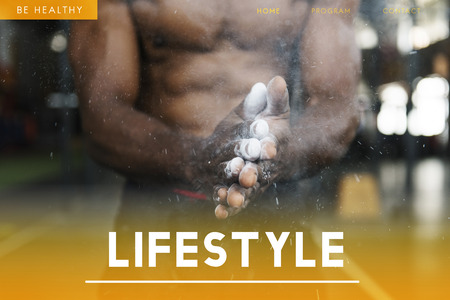 Webpage with healthy lifestyle concept