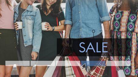 Purchase Sale Discount Fashion Style Stok Fotoğraf