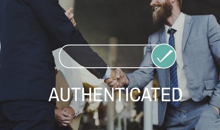 Authentifizierter Assurance Certificate Guarantee Proof Standard-Bild - 76473774