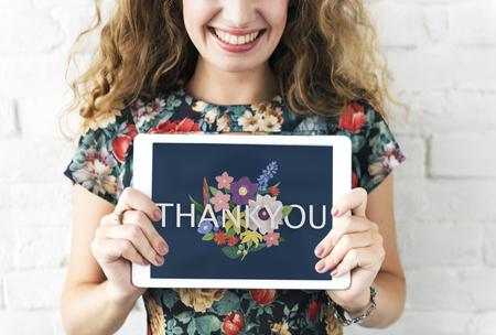 ありがとうございます感謝感謝幸せ 写真素材