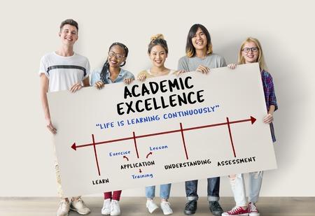 Kennis Academische Excellence Universiteit Wijsheid Stockfoto