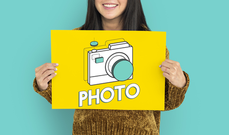 Digital camera illustration photography graphic Stok Fotoğraf - 76553295