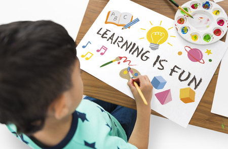 Learning Fun Childhood Imagination Education Stock Photo