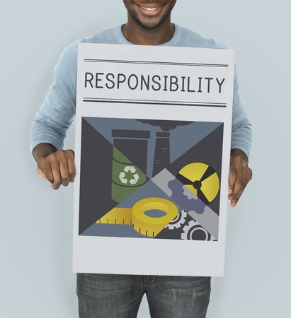 on duty: Responsibility Importance Liability Illustration Concept