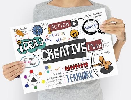Creatieve ideeën vaardigheid oplossing actie