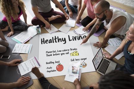 웰빙 다이어트 계획 건강한 생활 아이콘 스톡 콘텐츠