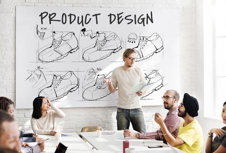 businessman shoes: Shoe production procedure sketch drawing Stock Photo