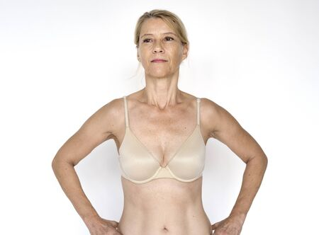 Woman Underwear Naked Show Body Stock Photo
