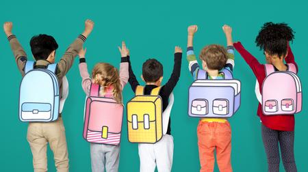 子供の学校の友達の図コンセプト