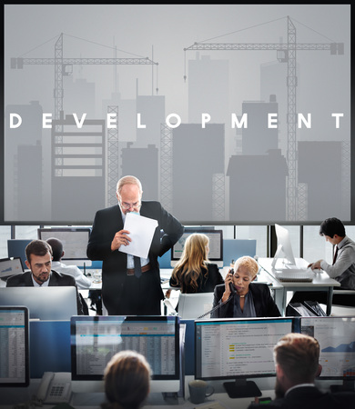 market place: Business Development Innovation Expansion Concept Stock Photo