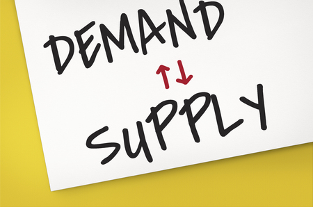 contact info: Supply Demand Balance Business Manage Stock Photo