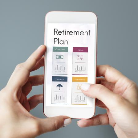 Service de planification de la retraite financière Banque d'images - 76775944