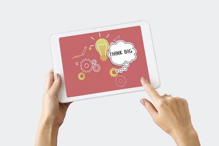 Imagining creatieve inspiratie gedachte bubble Stockfoto - 76778455