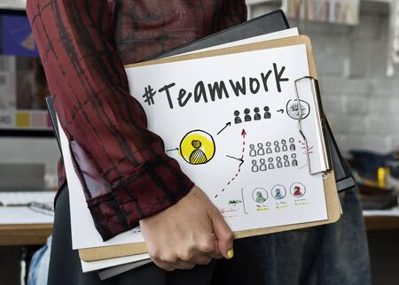 Teamwork Collaboration Organization Brainstorming Goals Zdjęcie Seryjne - 76700117