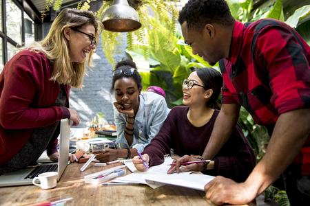 Vrienden People Group Teamwork Diversiteit